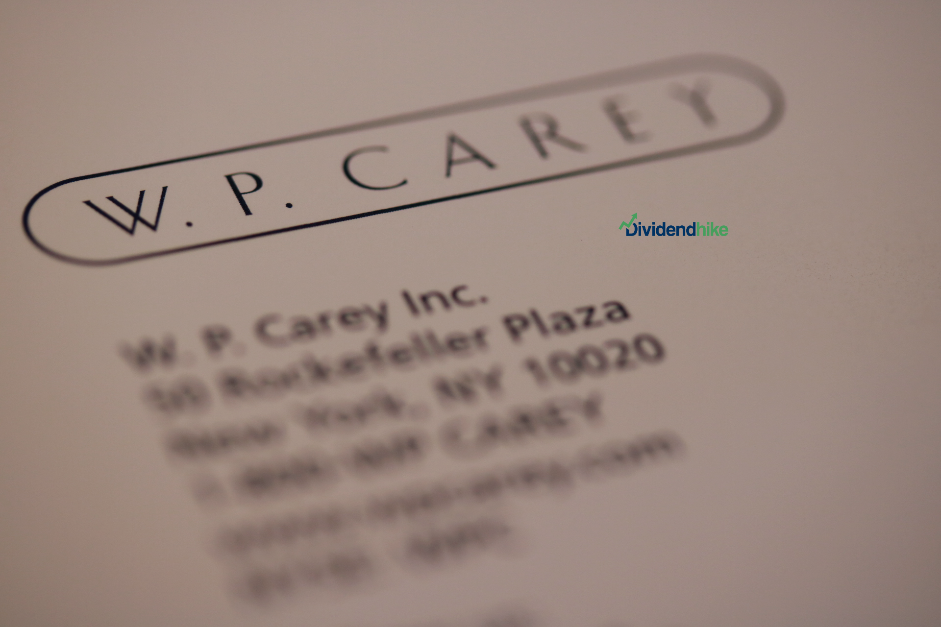 W.P. Carey also hiked its dividend by 0.2 percent in Q1 © dividendhike.com