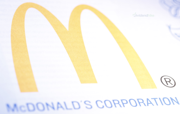 McDonald's is a Dividend Aristocrat with 44 consecutive years of increases © IMAGE: DIVIDENDHIKE.COM